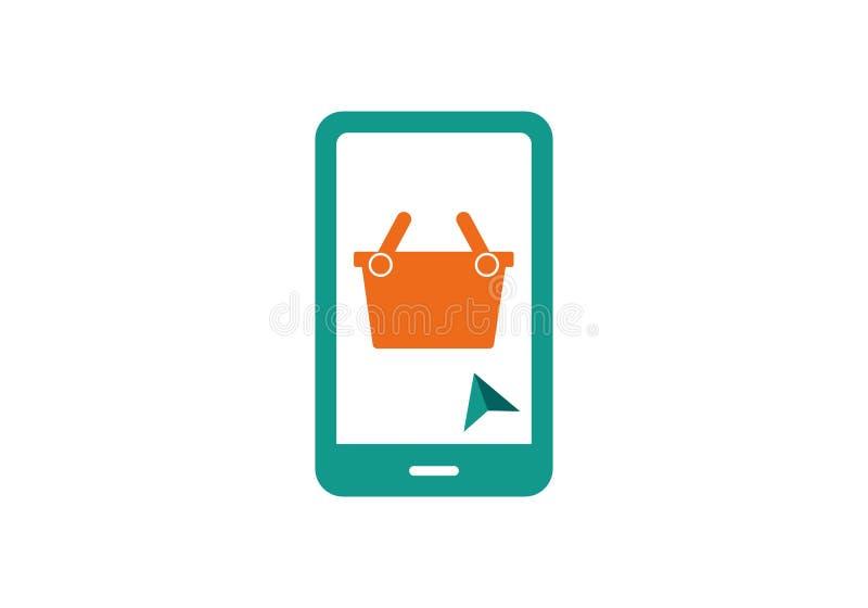 Deposito online, logo online di compera illustrazione vettoriale