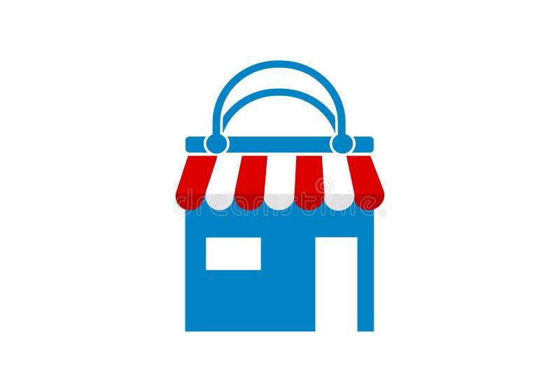Deposito online, logo online di compera illustrazione di stock