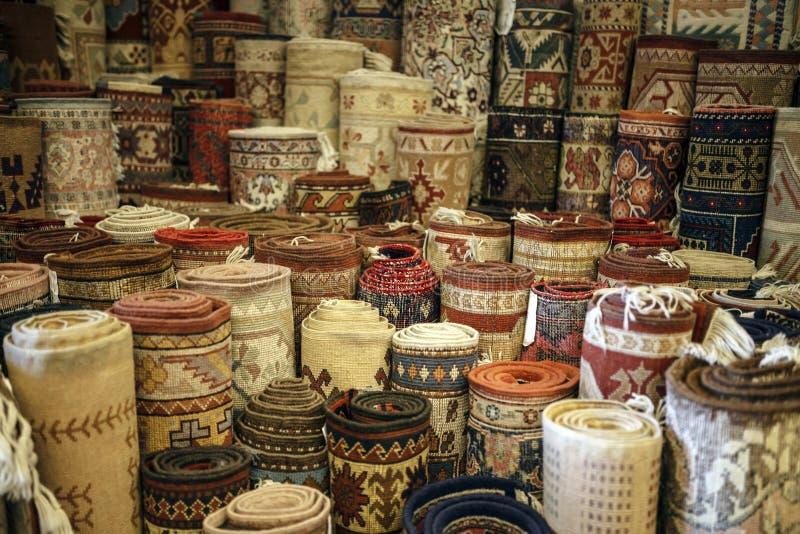 Deposito turco del tappeto fotografia stock