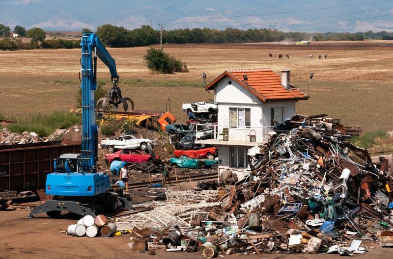Depot For Scrap Metal Stock Image