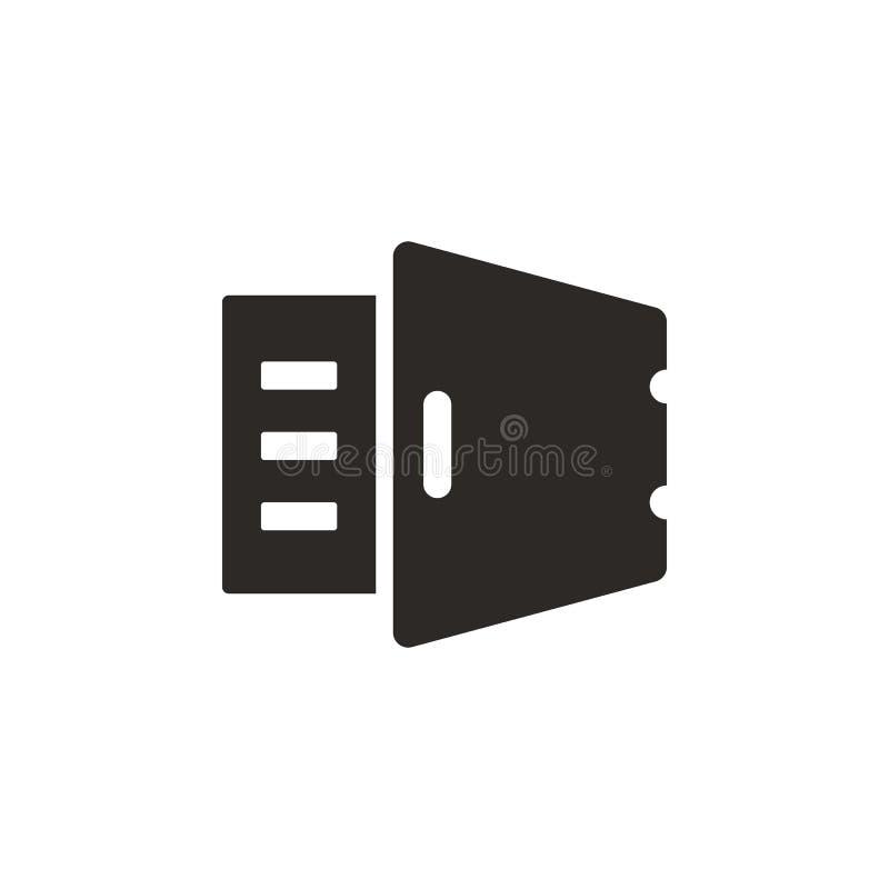Depozyt, złoto, bezpieczna wektorowa ikona Prosta element ilustracja od UI poj?cia Depozyt, złoto, bezpieczna wektorowa ikona poj ilustracji