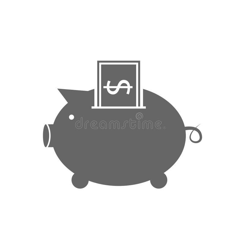 Depozytowa wektorowa ikona ilustracji