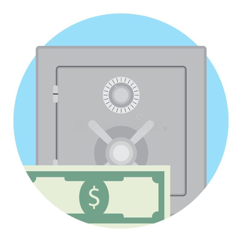 Depozytowy pudełko z pieniądze ilustracja wektor