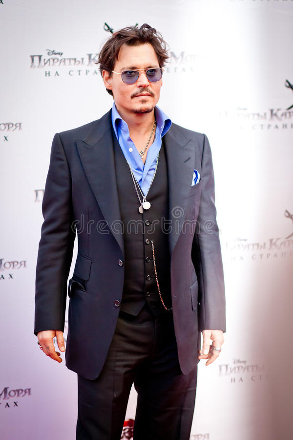 depp johnny royaltyfri foto