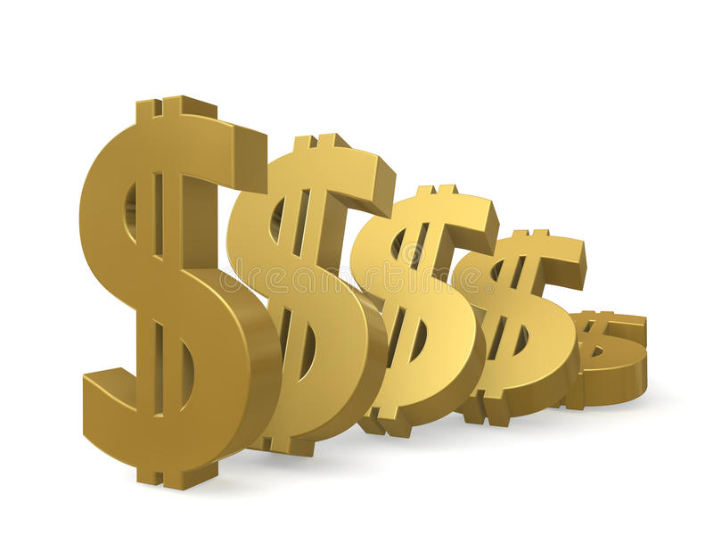 Download Depreciation Of The Dollar Royalty Free Stock Images - Image: 19912159