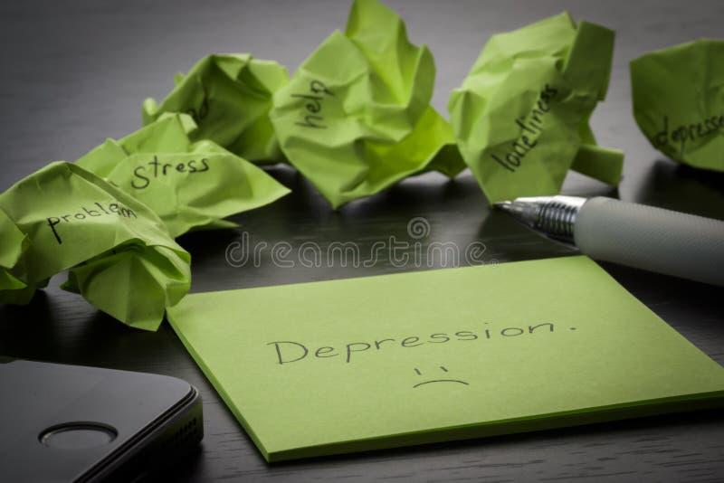 depresión   imagen de archivo libre de regalías