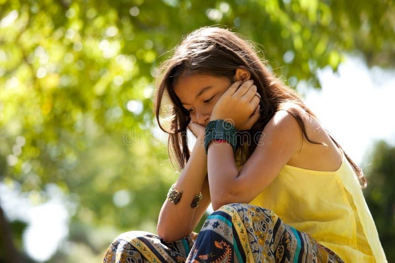 Depresión del niño joven imagen de archivo libre de regalías