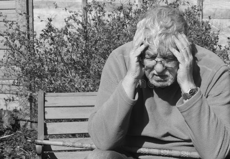 Depresión-negro y blanco. imagenes de archivo