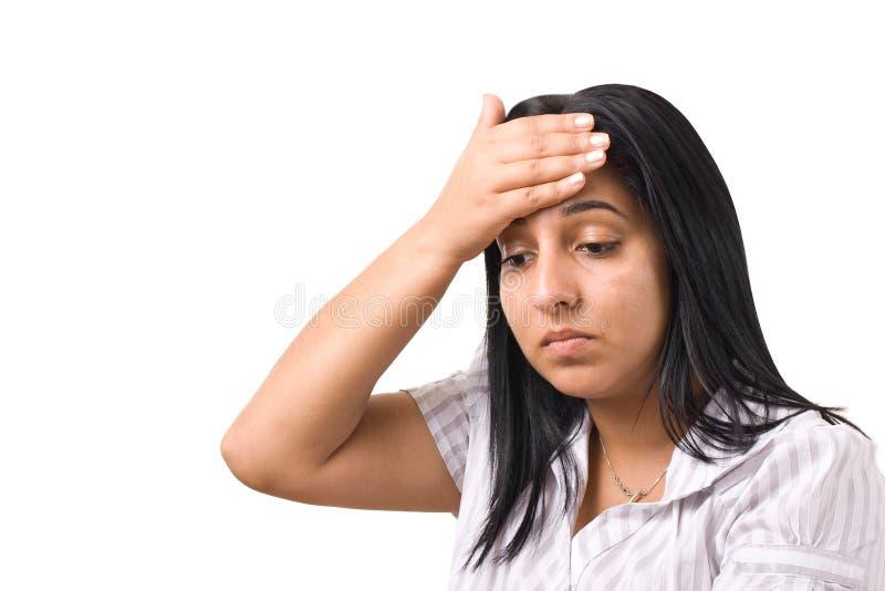 Depresión o dolor de cabeza fotografía de archivo libre de regalías