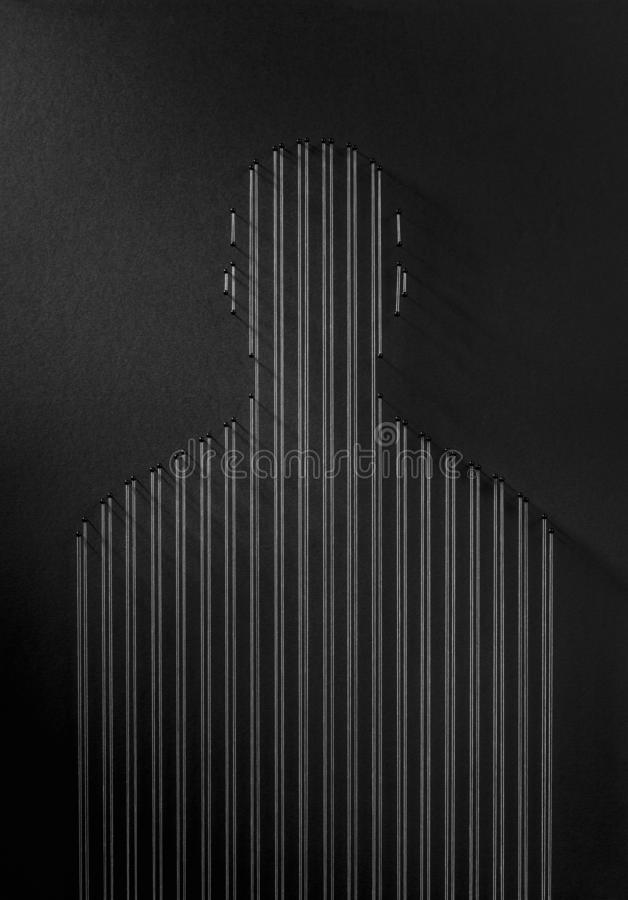 depresi?n Concepto de la prisión del uno mismo fotografía de archivo libre de regalías