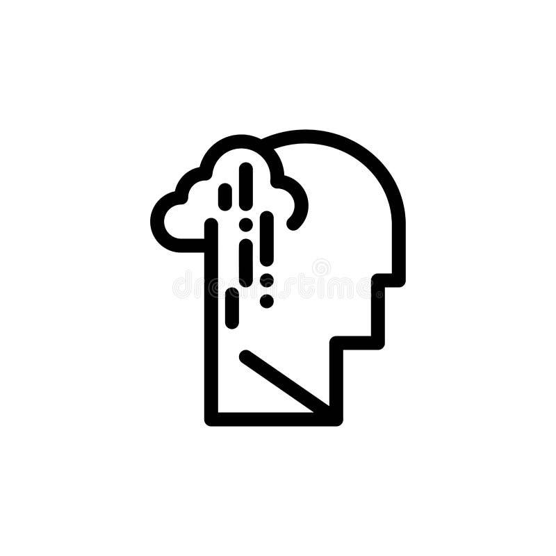 Depresja, żal, istota ludzka, melancholia, Smutny sieci Widget karty szablon, Błękitnej, Czerwonej i Teraz ściągania i zakupu royalty ilustracja