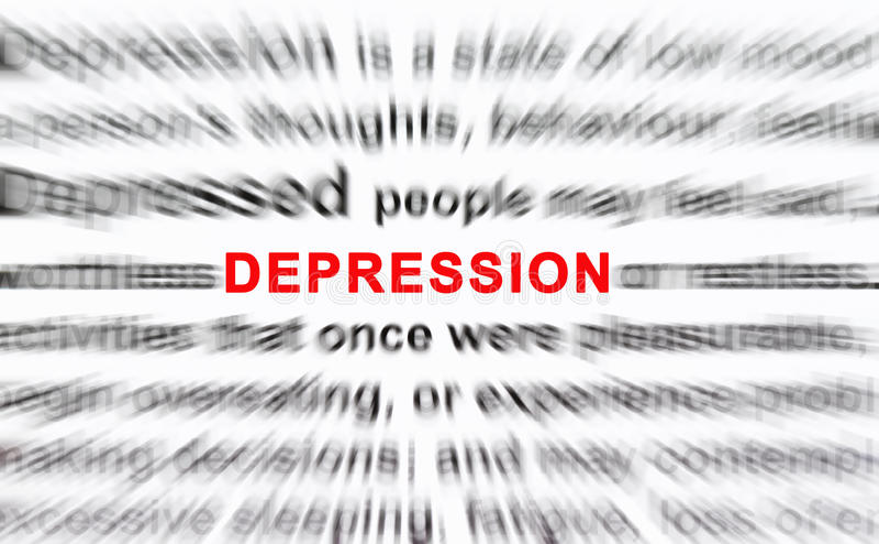 depresja ilustracja wektor