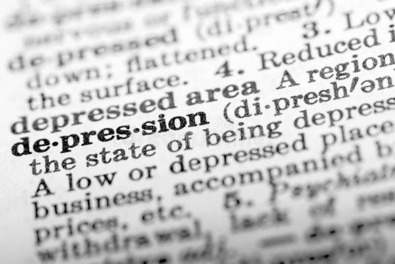 Depresja obrazy stock