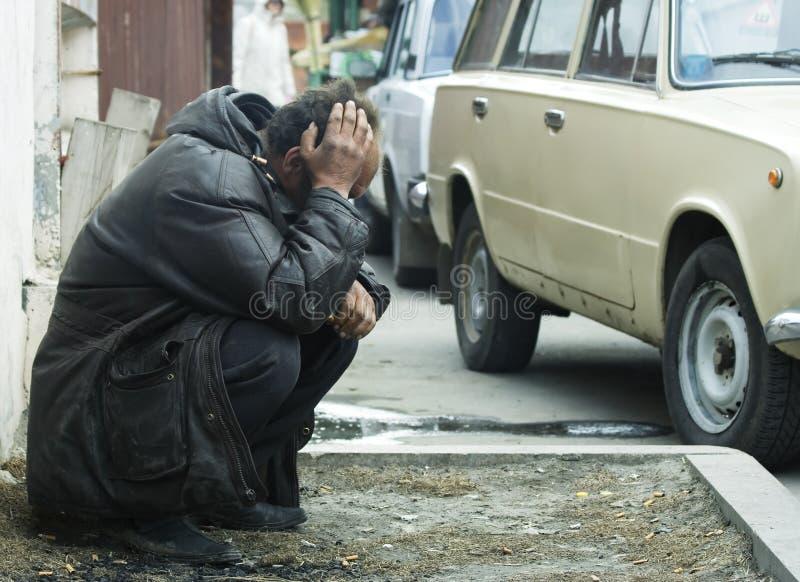 depresja bezdomnego zdjęcie royalty free