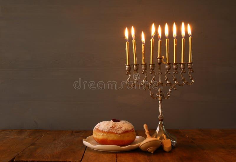 Depresja kluczowy wizerunek żydowski wakacyjny Hanukkah fotografia stock