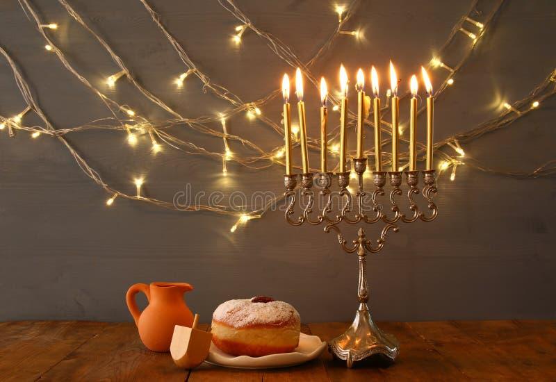 Depresja kluczowy wizerunek żydowski wakacyjny Hanukkah zdjęcie royalty free