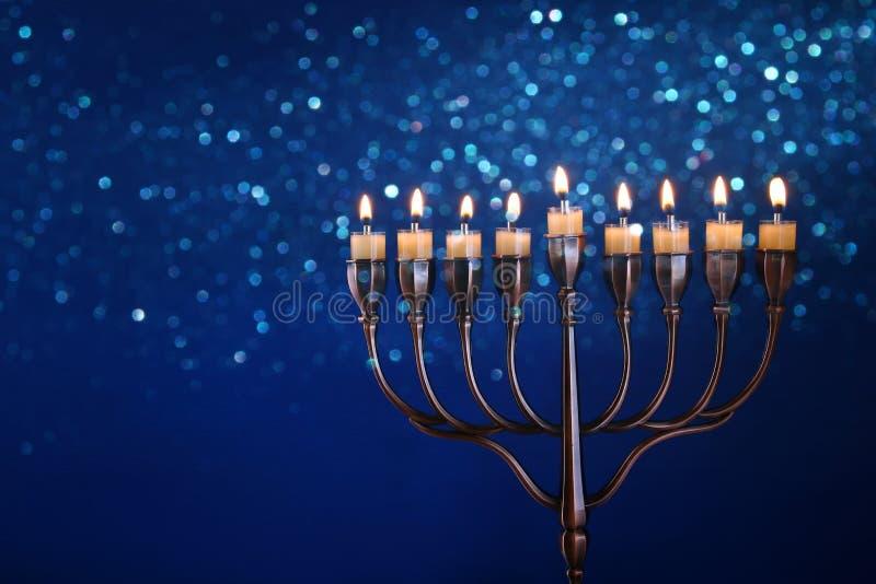 Depresja kluczowy wizerunek żydowski wakacyjny Hanukkah zdjęcia stock