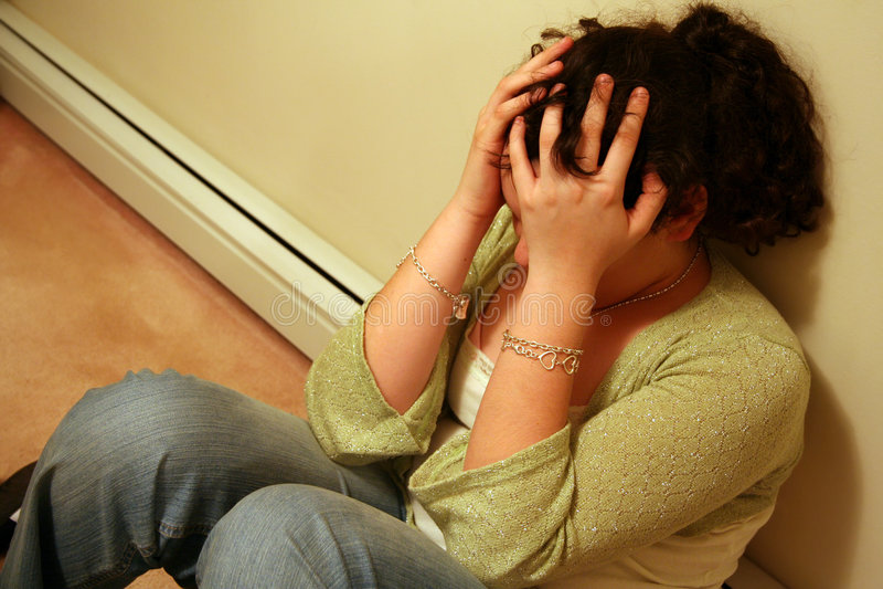 depresja nastolatka obrazy royalty free
