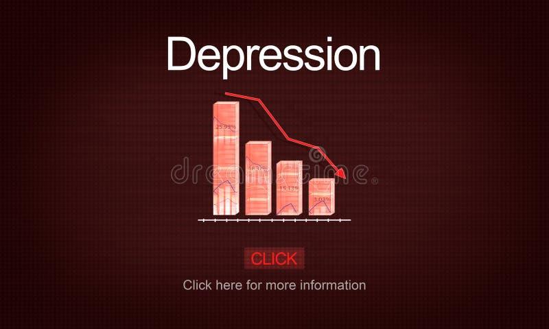 Depresja nieładu degrengolady choroby medycyny pojęcie ilustracja wektor