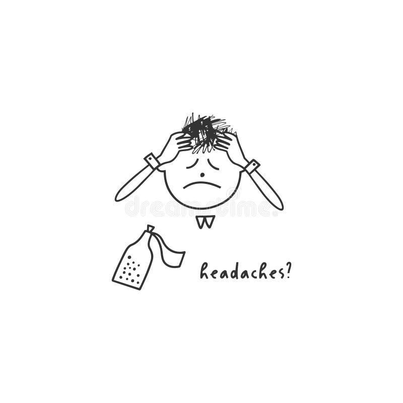 Depresja objawy i znaki Wektorowa ilustracja problemy zdrowie psychiczne royalty ilustracja