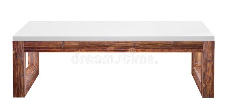 Depresja stół odizolowywający na białym tle 3d renderingu wizerunek ilustracja wektor