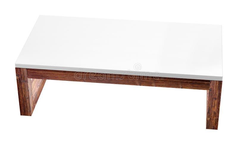 Depresja stół odizolowywający na białym tle 3d renderingu wizerunek royalty ilustracja