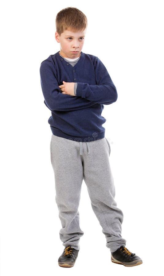 Depresji chłopiec fotografia royalty free