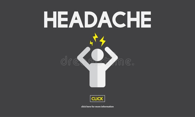 Depresji migreny stresu nieładu choroby pojęcie royalty ilustracja
