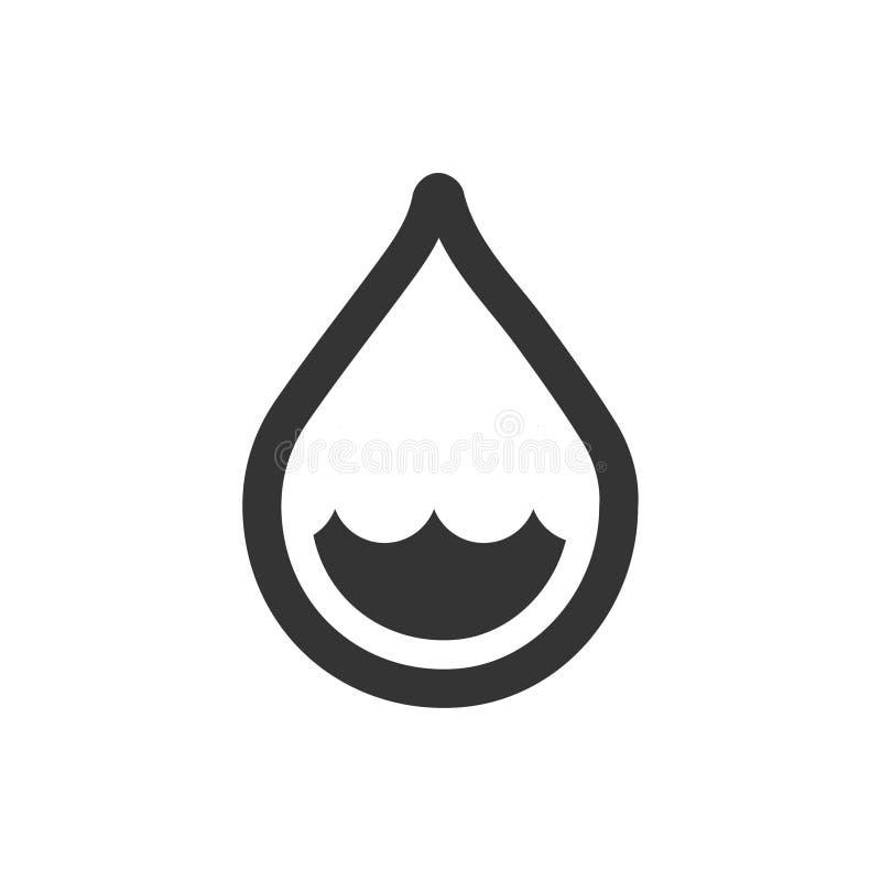 Depresji Podeszczowa ikona royalty ilustracja