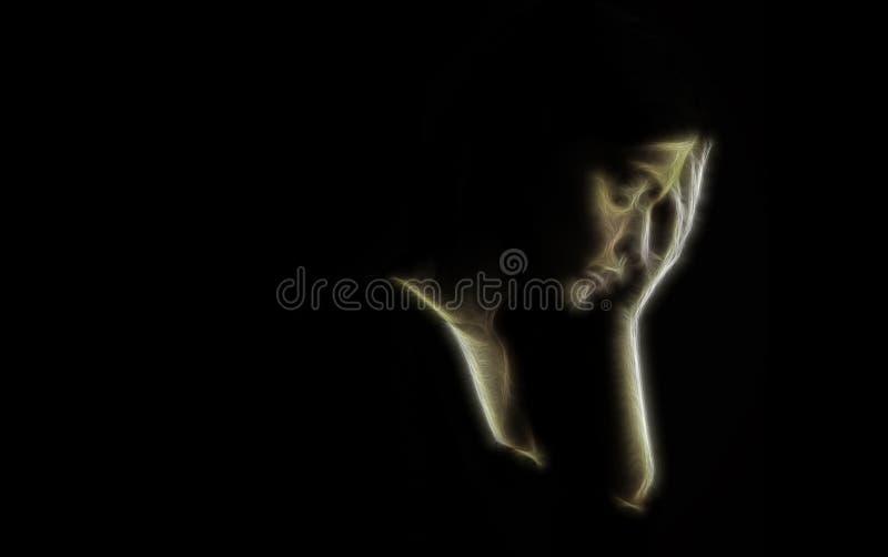 Depresji pojęcia †'smutna kobieta fotografia royalty free