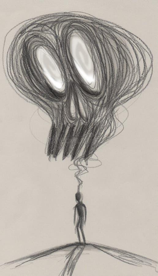 Depresji pojęcia grafika ilustracji