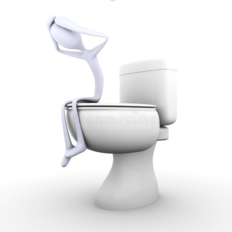 depresji toaleta ilustracji