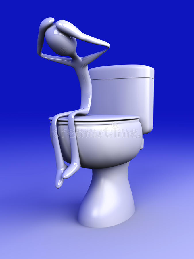 depresji toaleta royalty ilustracja