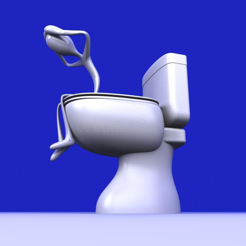 depresji toaleta ilustracja wektor