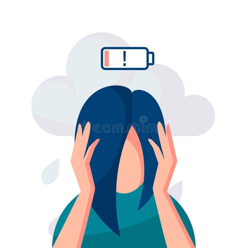 Depresji wektorowy poj?cie w prostym mieszkanie stylu ilustracji