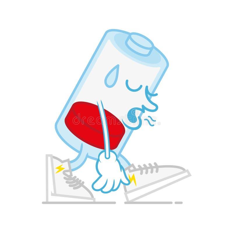 Depresji zmęczony batterie ilustracji