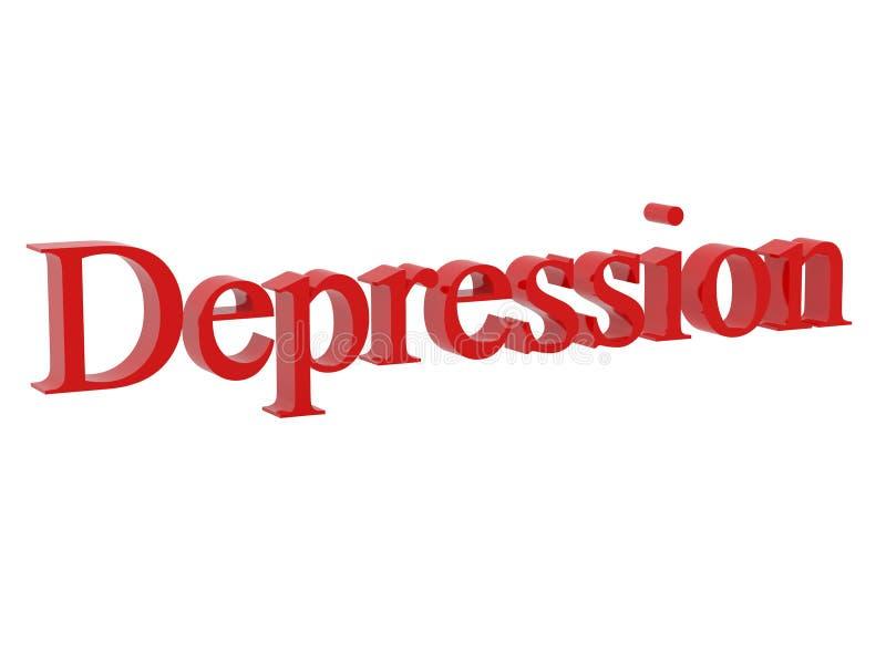 Depressão ilustração stock