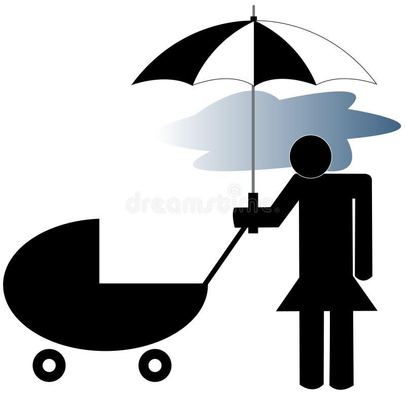 Depressão após o parto ilustração do vetor