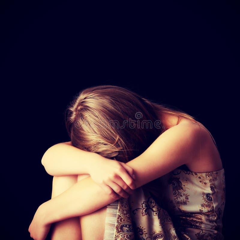 Depressão da jovem mulher imagem de stock royalty free