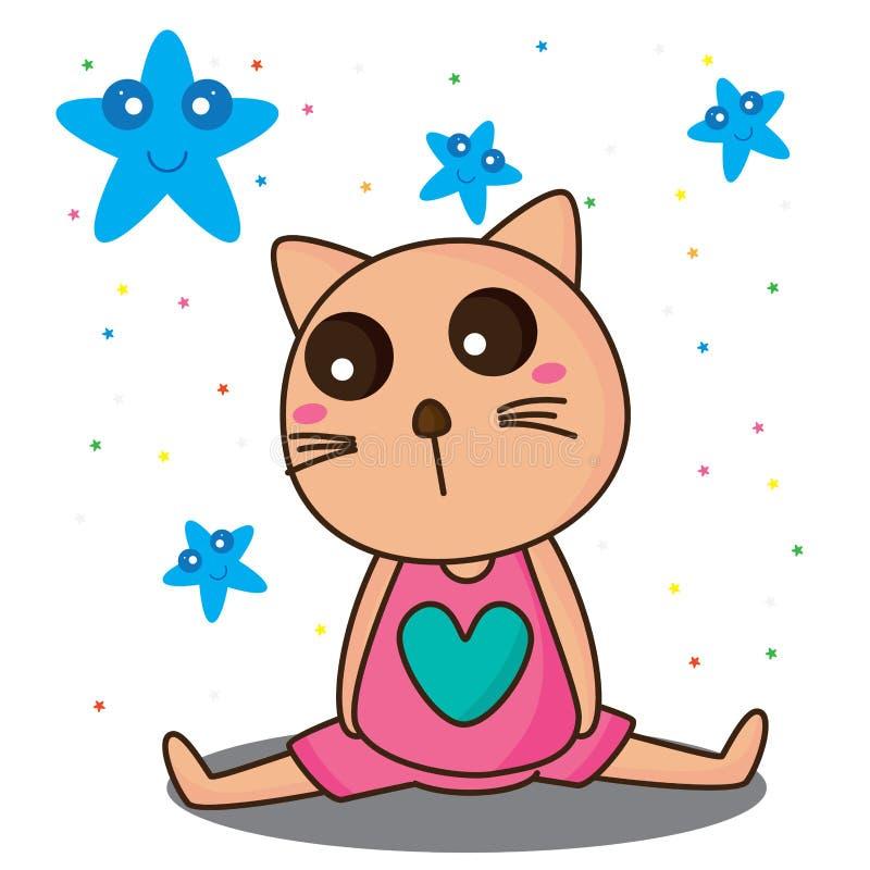 Depressão do gato nenhum miado ilustração royalty free