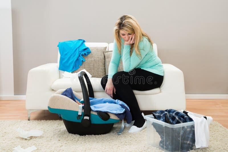 Depressão natal do cargo imagens de stock