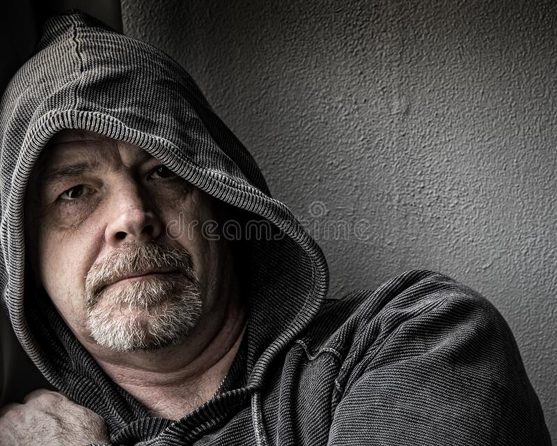 Depressed Adult Male royalty free stock photos