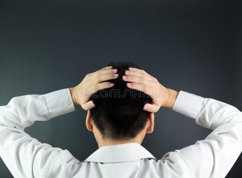 Depressed business man royalty free stock photos
