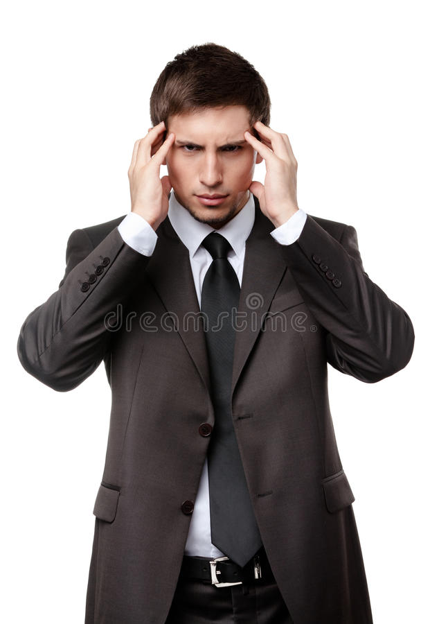 Depressed Business Man Has Some Problems Royalty Free Stock Image