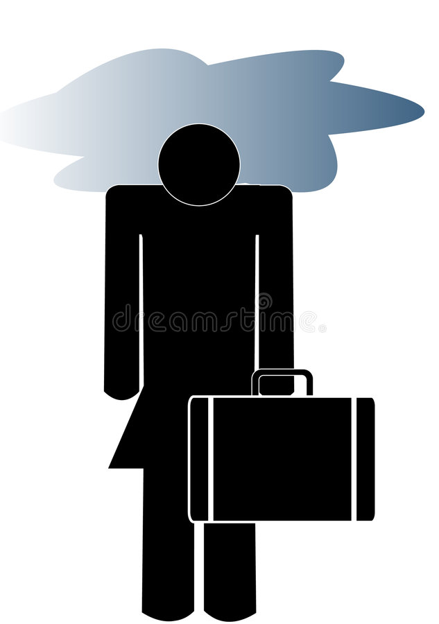 Download Depressed business woman stock vector. Image of grey, fired - 5736318