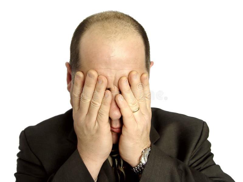 Depressed Businessman royalty free stock photos