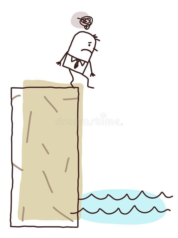 Depressed businessman stock illustration
