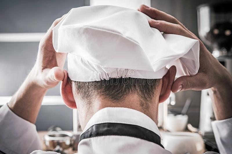 Depressed Kitchen Chef royalty free stock images