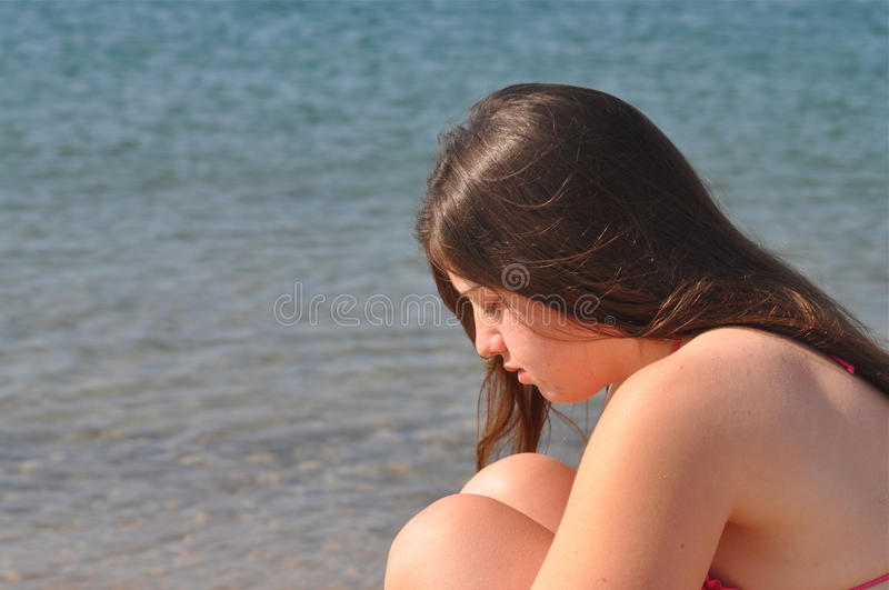 Depressed Girl royalty free stock photography