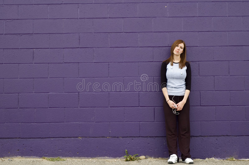Depressed girl stock photo